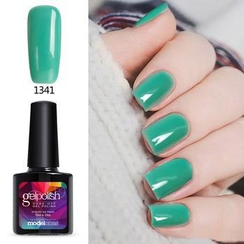 Modelones 10ML Fashion Color UV Nail Gel Varnish Green Color Nail Art Gel Polish Soak Off Long Lasting UV Nail Gel Lak