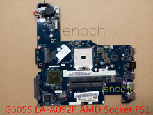 LA-A092P   for Lenovo Ideapad G505S Laptop motherboard  AMD Socket FS1,provide test photos and video    stock No.999