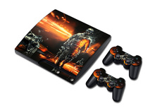 PVC STICKER COVER  for PS3 SLIM + 2 CONTROLLER SKINS for PS3 skin stickers