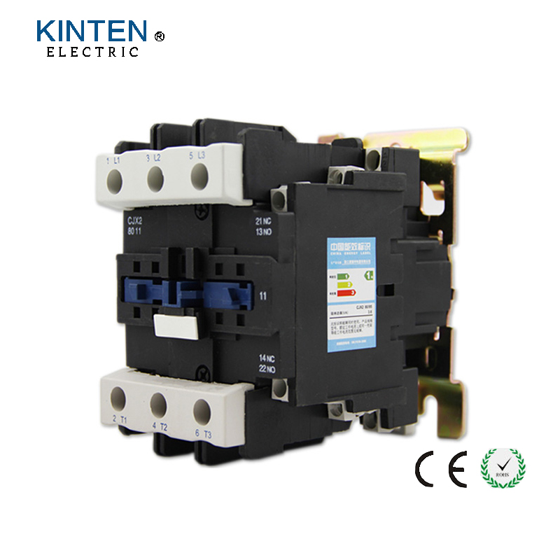 CJX2-8011 3P+NO+NC 80a 380v coil voltage three phase contactor 380v coil ac contactor with 85% silver contacts<br>