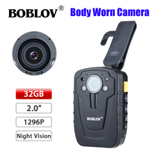 D900 Updated! HD31-D Ambarella A7 32GB Full HD 1080P Police Body Lapel Worn Video Camera Recorder DVR IR Night Vision Camera(China)