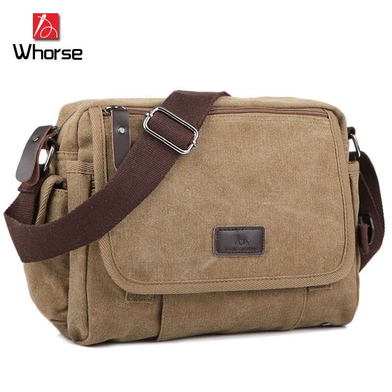 Brand Logo ! New High Quality Men Messenger Bags Canvas Casual Crossbody Shoulder Bag Male Handbag Black Khaki Coffee 160076<br><br>Aliexpress