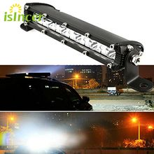 7inch 18W with Cree Chip LED Car Work Light Bar 4WD Spot Fog ATV SUV Driving Lamp LED Bar for Offroad Tractor Driving Lamp(China)