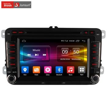 Junsun 1024*600 android 6.0 radio de coche reproductor de dvd para vw passat polo GOLF Skoda Seat Leon Quad Core con Navegador GPS 4G LTE FM