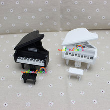 Baby Grand Piano Pianoforte Stool Toy Model Dollhouse Miniatures 1:12 Furniture Musical Instruments(China)