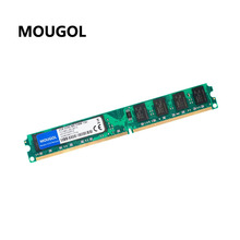MOUGOL New Sealed DIMM DDR2 800Mhz 2GB PC2-6400 memory for Desktop RAM,good quality!