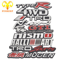 3D Car Sticker Metal Emblems Decal For BMW Nissan Nismo VW Volkswagen GTI Toyota TRD Honda TYPE R MUGEN Mitsubishi RALLI SRT 4WD
