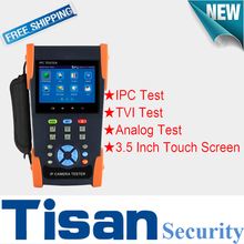 New 3.5 inch 3.0 TVI cctv tester,  IP Analog TVI in 1 CCTV Test monitor with Digital multi-meter