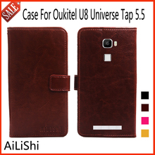 AiLiShi Leather Case For Oukitel U8 Universe Tap 5.5 Case Flip Protective Cover Phone Bag Luxury Wallet Tracking Number!