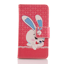 Exyuan Lovely Design Mobile Phone PU Leather Case Magnetic Buckle Cover For Medion Life E5006 MD 60227 5''