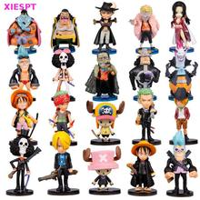 XIESPT Anime One Piece Figures Q Version Luffy Zoro Chopper PVC Action Figure Toys Model Collection Japan Animation 20pcs/set
