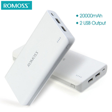 ROMOSS Sense 6 20000mAh External Battery Pack Portable Charger Mobile Power Bank Power Supply Station for Phones Tablet PCs(China)