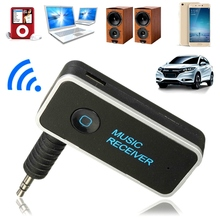 Hot 3.5mm Bluetooth 4.1 Wireless Music Receiver Adapter Streaming Handfree Car Auto AUX Audio Adapter With Mic For Phone MP3(China)