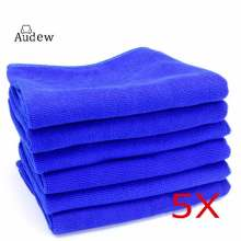 5 PCS 30cm x 30cm Microfibre Blue Cleaning Auto Car Detailing Soft Cloths Wash Towel Duster
