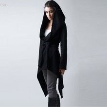Alishebuy 2016 New Spring Autumn Women coat Medium-long Hooded Cardigan Coat Thin Women Casual Dress Coat Slim Hoody Jacket 62