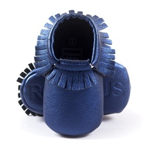 Hooyi Baby Boy Shoe Blue Fringe Soft Newborn First Walkers Infant Sneakers Children Moccasin Girls Boots 0 1 2 Year Solid(China)