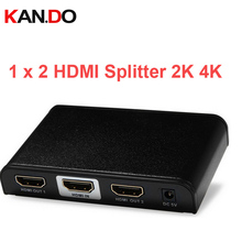 312PRO 2K 4K video splitter 1080P 2 Port HDMI divider,HDMI splitter,1X2 HDMI power splitter video divider HD video adapter(China)