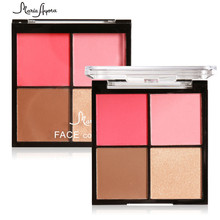 MARIA AYORA Makeup Blush Palette Natural Contour Repair Capacity Color Powder Blusher Palette For All Skin Types(China)