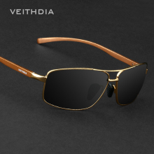 VEITHDIA Brand Best Alloy Men's Sunglasses Polarized Lens Driving Eyewear Accessories Driving Sun Glasses For Men 2458(China)