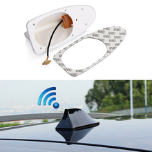 Car shark fin antenna with blank radio auto roof antena 3M sticker aerials for chevrolet cruze aveo captiva lacetti accessories