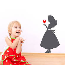 Removable Princess Silhouette Wall Sticker adesivo de parede Paper Vinyl Wall Art Decals For Princess Room Girls Bedroom ZA732