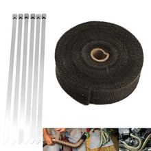 15m x 5cm Exhaust Pipe Header Heat Wrap Resistant Downpipe Stainless Steel Ties for Motorcycle Harley sportster 883 1200 XL(China)