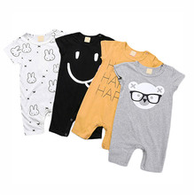 Summer Baby Rompers Cotton Baby Girls Clothes Baby Boy Clothes Newborn Baby Clothes Roupas Bebe Infant Jumpsuits Short Sleeves