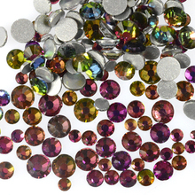 500pcs SS3~SS16 Flame Mixed Nail Art Rhinestones Flatback Non Hotfix For Nails Decorations DIY Rainbow Nail Accessories