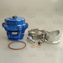 SPECIAL OFFER MOFE Aluminum Q Series 50mm BOV With V Band Flange 10 PSI Blue