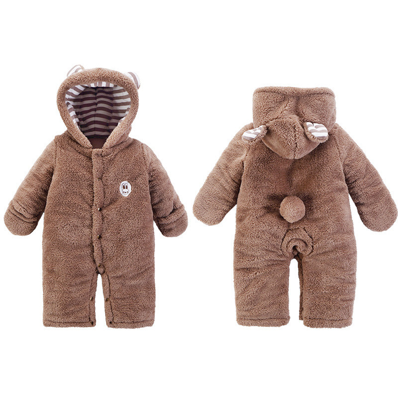New Arrival !Autumn and Winter Baby Boy&Girl Clothes Newborn Cartoon Animal Outwear Clothing Baby Warm Jumpsuit Free Drop Ship10