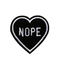 Free shipping girls clothes NOPE heart patch logo Iron on patches for kids clothes deal with it embroidered flower sticker gifts