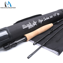Maximumcatch 5/6/8WT Fly Rod 9FT 4SEC Carbon Fiber Fast Action Black Star Fly Fishing Rod with Cordura Tube Fly Fishing Rod(China)