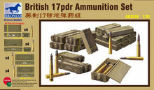 Bronco MODEL AB3535 1/35 English 17 Pound Mk.I Anti-Tank Cannon Shells and Box Set plastic model kit(China)