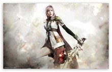 Final Fantasy XIII Lightning Artwork - Video Game Poster Print Canvas Print Home Decoration 50x75cm Free Shipping