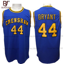 BONJEAN Cheap #44 BRYANT Jersey Crenshaw High School Movie Love College Basketball Jerseys Throwback Stitched Blue Shirts(China)