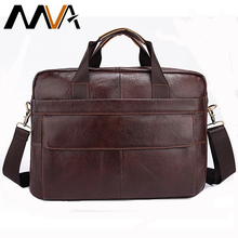 MVA Leather Men Briefcase Leather Laptop Bag Men Bag Men Messenger Bags Casual Handbag bolsa Shoulder Crossbody Bags for Man