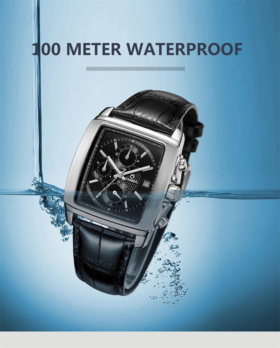ساعة يد رجالي عالية الجودة مقاومة للماء 14