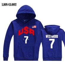 2017 Team USA Baloncesto Sudadera Mens Hooded T-shirt Long Sleeves Loose Breathable Long-sleeved Pullover Palace Hombre Team USA