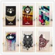 Newest Fashion Hard Pattern Case Cover For Nokia Lumia 925 N925 Phone Bag Good Quality Plastic Cases PY