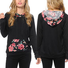 Buy Casual Women Floral Cotton Long Sleeve Loose Printed Hoodies Sweatshirt Clothes Hooded Pullover Crop Top Jumper Clothing Outwear for $7.83 in AliExpress store