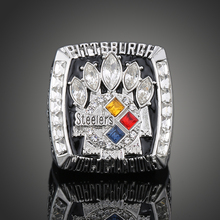 2005 Super Bowl XL Pittsburgh Steelers Championship Ring Men Jewelry American Football Game Replica Champion Ring For Fan J02128