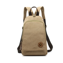 Unisex Multifunctional Zipper Strap Backpack Casual Canvas Back Pack Chest Bag Daypack mochila Rucksacks For Girls Bag School