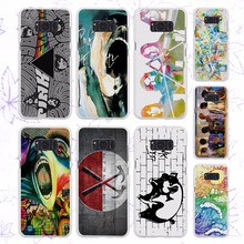 rock music Pink Floyd groups the wall design hard White Case for Samsung Galaxy S8 Plus S8 s6 s7 edge s4 s5 mini note 5 4(China)
