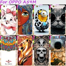 Hard Plsatic Mobile Phone Back Cover For OPPO A59 F1S A59M Find 9 5.5inch Case Cute Minions Flower Cat DIY Print