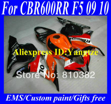 Injection Molded Fairing kit for HONDA CBR600RR 09 10 CBR600 CBR600RR F5 2009 2010 REPSOL orange black ABS Fairings bodykit ZC11