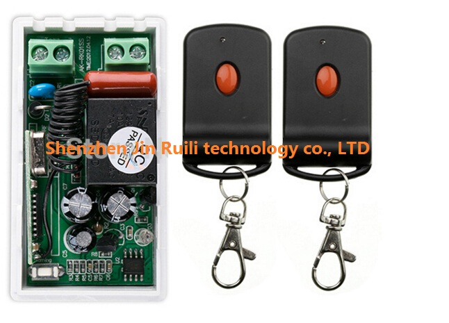 AC220V 1CH 10A RF Wireless Remote Control Switch System teleswitch 2 transmitter &amp; 1 receiver relay Receiver Smart Home Switch<br><br>Aliexpress