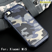 Army Camo Camouflage Pattern Case For Xiaomi Mi 5 Armor Shockproof Hard PC + Soft Silicon Cover for Xiaomi Mi5 Shell