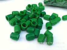 L1000pcs dark Green Plastic Tyre/Tire Valve Dust Caps Pit Monkey Bike Motorcycle Scooter(China)