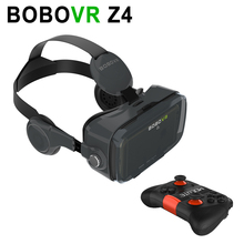 "BOBOVR Z4 Black Virtual Reality 3D VR Glasses 3D VR Headset for 4.7-6.0"" Smartphones with Bluetooth Gamepad for 3D Games"