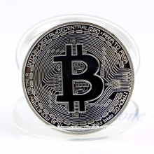 Coins collectibles Silver Plated Bitcoin BTC Coin Art Collection Gift Physical New XQ_8 Drop shipping(China)